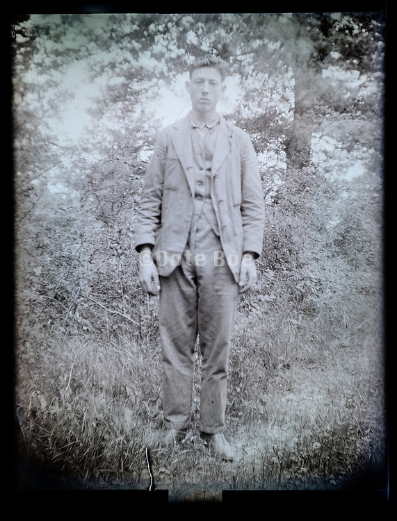 rural male person full lenth portrait France 1926