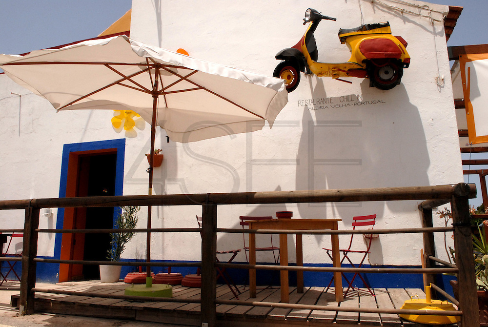 Aspect of the bar and restaurant Chill In, near the village of Aljezur, Algarve. The southwest coast of Portugal, from cape St vincente, at the Algarve, until up to Zambujeira do Mar, at the Alentejo, is said to be among the most unspoiled coastlines of Europe.