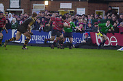 Gloucester, Gloucestershire, UK., 04.01.2003, Olivier Azam, running with the ball during, Zurich Premiership Rugby match, Gloucester vs London Wasps,  Kingsholm Stadium,  [Mandatory Credit: Peter Spurrier/Intersport Images],