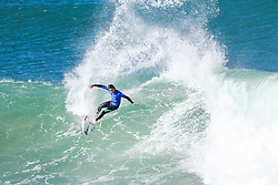 Jul 17, 2017 - Jeffries Bay, South Africa - Rookie Leonardo Fioravanti of Italy advances to Round Three of the Corona Open J-Bay after defeating Sebastien Zietz of Hawaii in Heat 7 of Round Two in pumping Supertubes. (Credit Image: © Pierre Tostee/World Surf League via ZUMA Wire)