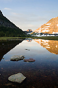 Mountain reflection in Glacier National Park