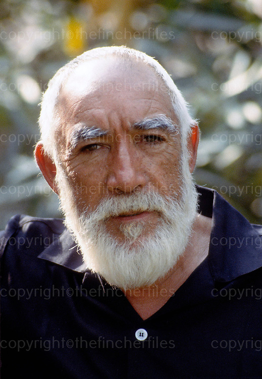 Anthony Quinn, actor photographed during filming of 'Lion of the Desert' in 1979. Photo by Terry Fincher.