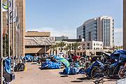 Homeless Population at Santa Ana Civic Center