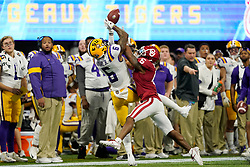 Tre Brown #6 of the Oklahoma Sooners breaks up a pass intended for Terrace Marshall Jr. #6 of the LSU Tigers during the first half of the 2019 College Football Playoff Semifinal at the Chick-fil-A Peach Bowl on Saturday, Dec. 28, in Atlanta. (Paul Abell via Abell Images for the Chick-fil-A Peach Bowl)