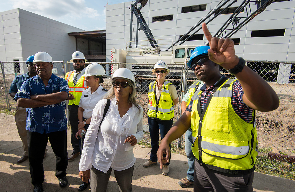Project Advisor Team tour of construction at Yates High School, May 18, 2017.