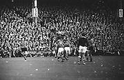GAA All Ireland Senior Football Final Kerry v. Down 22nd September 1968 Croke Park,.Down defender jumps for possession ,