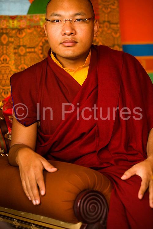 Ogyen Trinley Dorje, His Holiness, The seventeenth reincarnation of The Karmapa Lama at the Vajra Vidya Institute for Buddhist studies in Sarnath, India