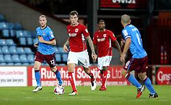 Aden Flint of Bristol City runs with the ball - Mandatory by-line: Robbie Stephenson/JMP - 23/08/2016 - FOOTBALL - Glanford Park - Scunthorpe, England - Scunthorpe United v Bristol City - EFL Cup second round