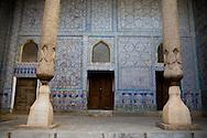 KUNYA ARK palace citadelle insice the old city  KHIVA  Ouzbekistan  .///.KUNYA ARK PALACE citadelle les porte de la citadelle ARK       dans la vielle ville  KHIVA  Ouzbekistan .///.OUZB56305