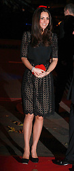 The Duchess of Cambridge attends the SportsAid SportsBall gala dinner Supernova, Embankment Gardens, London.