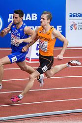 03-03-2017  SRB: European Athletics Championships indoor day 1, Belgrade<br /> In een lege Kombank Arena wordt de eerste dag van het Europees Kampioenschap gehouden / Tony van Diepen