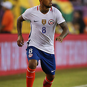 FOXBOROUGH, MASSACHUSETTS - JUNE 10:  Arturo Vidal #8 of Chile in action during the Chile Vs Bolivia Group D match of the Copa America Centenario USA 2016 Tournament at Gillette Stadium on June 10, 2016 in Foxborough, Massachusetts. (Photo by Tim Clayton/Corbis via Getty Images)
