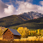 Bitterroot Mountains in fall, Montana.