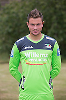 20150626 - OOSTENDE, BELGIUM: Oostende's goalkeeper Jean Chopin pictured during the 2015-2016 season photo shoot of Belgian first league soccer team KV Oostende, Friday 26 June 2015 in Oostende. BELGA PHOTO KURT DESPLENTER