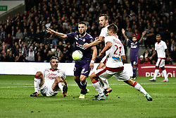 September 15, 2017 - Toulouse, France - Andy Delort (tfc) vs Jeremy Toulalan gir) (Credit Image: © Panoramic via ZUMA Press)
