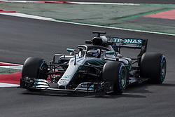March 9, 2018 - Barcelona, Catalonia, Spain - 77 Valtteri Bottas from Finland Mercedes W09 Hybrid EQ Power+ team Mercedes GP during day four of F1 Winter Testing at Circuit de Catalunya on March 9, 2018 in Montmelo, Spain. (Credit Image: © Xavier Bonilla/NurPhoto via ZUMA Press)
