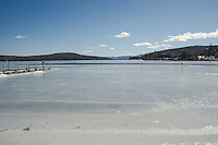 Pre Great Meredith Rotary Ice Fishing Derby at Meredith Bay.  Karen Bobotas for the Laconia Daily Sun
