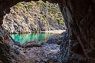 A tunnel to the secret beach in Sardinia