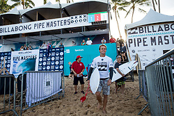 December 11, 2017 - Haleiwa, Hawaii, U.S. - Josh Kerr of Australia ready for round one heat 2 of the 2017 WSL Billabong Pipe Masters at Pipeline, Oahu, Hawaii, USA..Billabong Pipe Masters 2017. (WSL via ZUMA Wire/ZUMAPRESS.com)