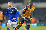 Matthew Connolly (Cardiff City) during the Sky Bet Championship match between Hull City and Cardiff City at the KC Stadium, Kingston upon Hull, England on 13 January 2016. Photo by Mark P Doherty.