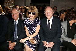 Anna Wintour and Francois Henri Pinault attending at the Saint Laurent show as a part of Paris Fashion Week Ready to Wear Spring/Summer 2017 on September 27, 2016 in Paris, France. Photo by Jerome Domine /ABACAPRESS.COM