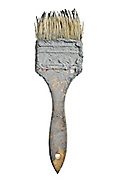 old brush with dried up paint