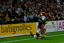 December 9, 2018 - Nanterre, Hauts de Seine, France - Leicester Hooker TATAFU POLOTA-NAU in action during the rugby Champions Cup Day 3 between Racing 92 and Leicester at U Arena Stadium in Nanterre - France..Racing 92 Won 36-26. (Credit Image: © Pierre Stevenin/ZUMA Wire)