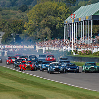 Start of the RAC TT Celebration race at Goodwood Revival 2019