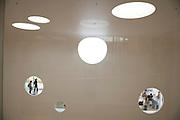 interior wall of a modern building Yokosuka Museum of Art Japan