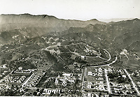 1922 Aerial photo of Immaculate Heart High School