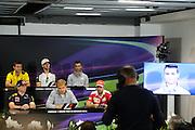 May 25-29, 2016: Monaco Grand Prix. FIA Press Conference with Vettel, Rosberg, Verstappen, Palmer, Grosjean, Pascal Wehrlein (GER), Manor