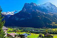 Eiger, Monch and Jungfrau from Grindelwald, Canton Bern, Switzerland