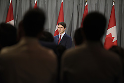 May 2, 2019 - Mississauga, Canada - Prime Minister Justin Trudeau, Leader of the Liberal Party of Canada, will deliver remarks to supporters at an open Liberal fundraising event in Mississauga, ON, on May 1, 2019. (Credit Image: © Arindam Shivaani/NurPhoto via ZUMA Press)