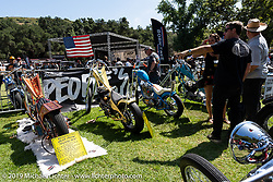 People's Champ runner-ups in the guest custom bike corral at the Born Free Motorcycle Show (BF11) at Oak Canyon Ranch, Silverado  CA, USA. Saturday, June 22, 2019. Photography ©2019 Michael Lichter.