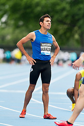adidas Grand Prix Diamond League professional track & field meet: mens 800 meters, Leo Manzano, USA