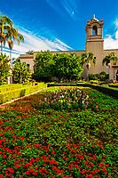 Alcazar Gardens, Balboa Park, San Diego, California USA.