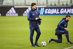 February 12, 2018 - Turin, Piedmont, Italy - Mauricio Pochettino, head coach of Tottenham Hotspur FC,   during training on the eve of the first leg of the Round 16 of the UEFA Champions League 2017/18 between Juventus FC and Tottenham Hotspur FC at Allianz Stadium on 12 February, 2018 in Turin, Italy. (Credit Image: © Massimiliano Ferraro/NurPhoto via ZUMA Press)