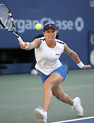 Belgium's Kim Clijsters defeats Russia's Maria Sharapova 6-2, 6-7, 6-3, at the 2005 US Open tennis tournament held at the Arthur Ashe stadium in Flushing Meadows, New York City, USA, on September 9, 2005. Photo by William Gratz/Cameleon/ABACAPRESS.COM