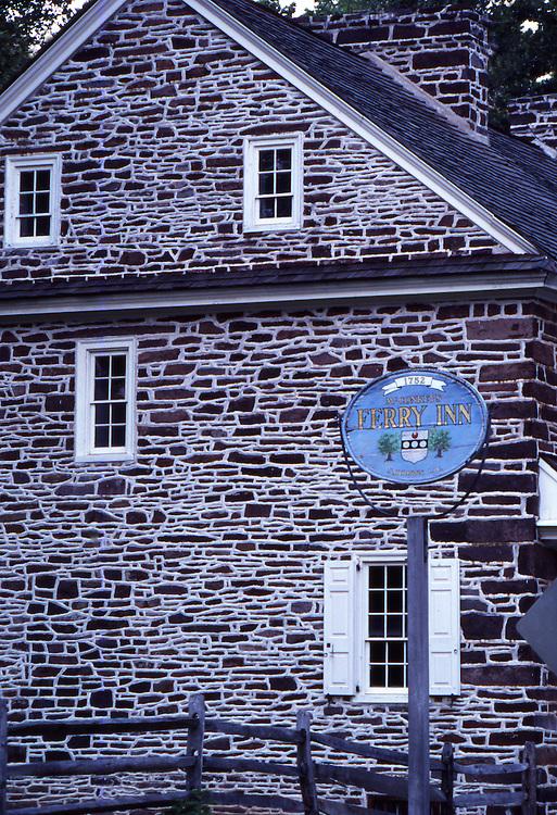 McConkey's Ferry Inn, Washington Crossing State Park historic site, Delaware River, Buck's Co., PA