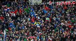 28.01.2020, Planai, Schladming, AUT, FIS Weltcup Ski Alpin, Slalom, Herren, im Bild Fans // fans during the men's Slalom of FIS Ski Alpine World Cup at the Planai in Schladming, Austria on 2020/01/28. EXPA Pictures © 2020, PhotoCredit: EXPA/ Martin Huber