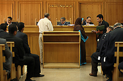 Family Court Appeals Judges Ahmed Abdel Gileel, left, and Abdel Migeed Himeda, right, hear cases at the Courthouse of New Cairo Personal Status and Family Courts in Cairo, Eqypt on March 5, 2008. Recently in the Muslim world, the reputation of Shariah law has undergone an extraordinary revival.