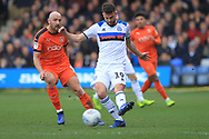 Bradden Inman wins the ball during the EFL Sky Bet League 1 match between Luton Town and Rochdale at Kenilworth Road, Luton, England on 2 March 2019.