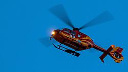 THEMENBILD - der Rettungshubschrauber Alpin Heli 6 (OE-XRS, Airbus Helicopter EC/H 135) bei einem Einsatzflug in Kaprun, Oesterreich, aufgenommen am 20. Maerz 2017 // the Alpin Heli 6 (OE-XRS, Airbus Helicopter EC / H 135) Emergency Medical Helicopter during a rescue operation in Kaprun, Austria on 2017/03/20. EXPA Pictures © 2017, PhotoCredit: EXPA/ JFK
