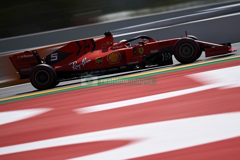 May 11, 2019 - Barcelona, Catalonia, Spain - Sebastian Vettel of Germany driving the (5) Scuderia Ferrari Mission Winnow SF90 during qualifying for the F1 Grand Prix of Spain at Circuit de Barcelona-Catalunya on May 11, 2019 in Barcelona, Spain. (Credit Image: © Jose Breton/NurPhoto via ZUMA Press)