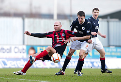 Queen of the South's Sam Parkin and Murray Wallace..Falkirk 3 v 0 Queen of the South, 25/2/2012..© Michael Schofield.