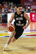 NANJING,CHINA:SEPTEMBER 5th 2019.FIBA World Cup Basketball 2019 Group phase match.Group F. New Zealand vs Greece .Point Guard,Shea ILI<br /> Photo by Jayne Russell / www.PhotoSport.nz