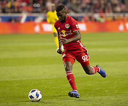 STYLEPREPENDKemar Lawrence (92) of Red Bulls controls ball during 2nd leg MLS Cup Eastern Conference semifinal game against Columbus Crew SC at Red Bul Arena Red Bulls won 3 - 0 agregate 3 - 1 and progessed to final  (Credit Image: © Lev Radin/Pacific Press via ZUMA Wire)