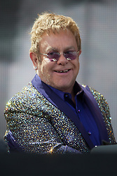 @Licensed to London News Pictures 31/05/15. Kent Showground, Detling Nr Maidstone, Kent. Sir Elton John performs tonight at the Kent Showground in Maidstone Kent as part of his World Tour.  Photo credit: Manu Palomeque/LNP