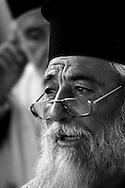 Greece, Folegandros island: Procession in the Orthodox church of Panaghia.Grecia,Folegandros: Processione Ortodossa alla chiesa di Panaghia