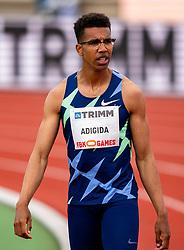 Onyema Adigida in action on the 200 meter during FBK Games 2021 on 06 june 2021 in Hengelo.